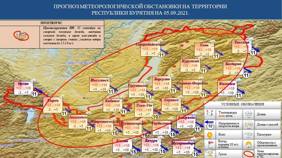Прогноз возможных ЧС на 05.09.2021 - Оперативная информация - Главное управление МЧС России по Республике Бурятия